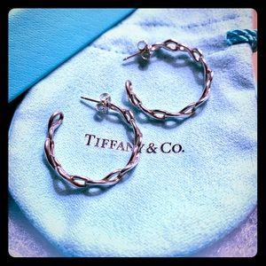 Tiffany & Company Silver Infinity Hoop Earrings